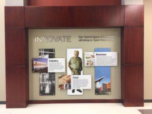 Don Tyson Technology Center Interior Custom Signs