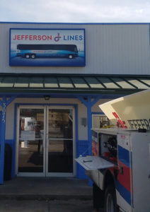 Installation of the New Jefferson Lines Sign