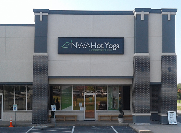 Exterior Cabinet Sign for NWA Hot Yoga
