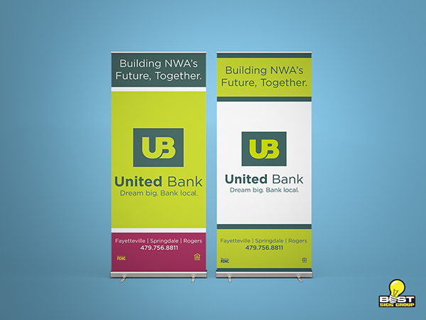 Retractable Banner for United Bank
