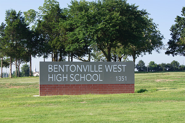 Monument Sign Bentonville West High School