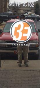 3E Door Vinyl Logo