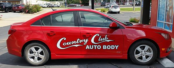 Vinyl on Country Club Auto Body