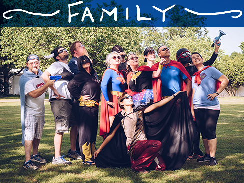 Photo of BSG Team Members Dressed as Superheroes