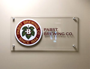 Pabst Brewing Interior Custom Acrylic